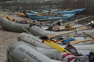 Versatile and Extensive Fleet of Professional Rafts and Rafting Equipment