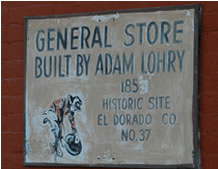 Lotus Historical General Store built by Adam Lohry