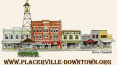 Placerville Downtown Association - artwork by Anne Gladwill