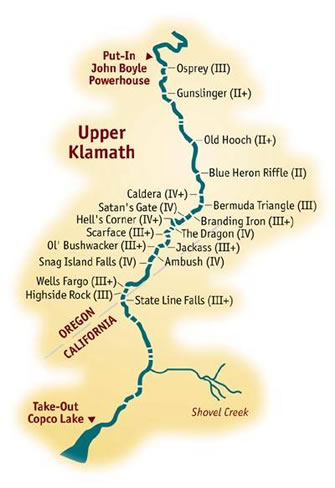 Upper Klamath River Gt 1Day Rafting Trips