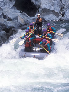 Whitewater River Rafting trips near Nevada County, California