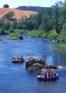 Whitewater rafting near Coloma, CA