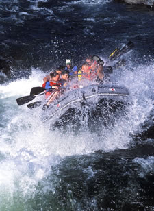 Whitewater Rafting near Davis CA