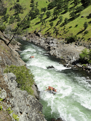 California Rafting Flow Information